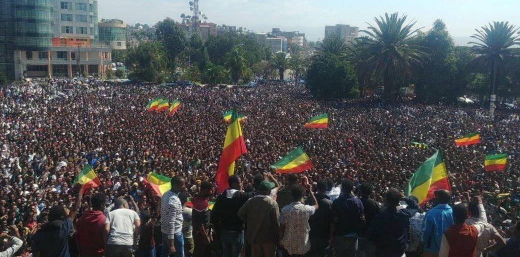 Amhara mass Protest against genocide in Ethiopia!